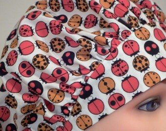 Lady Bug Print Bouffant Surgical Hat