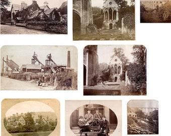 Wales 1877-1879: 9 Antique Albumen Photographs, Industrial, Architectural, Portraits
