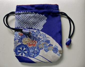 Pouch,Small Bag,Japanese  Silk kimono fabric #25