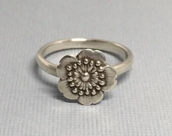 sakura ring   cherry blossom ring   flower ring  spring flower   Little Flower Ring