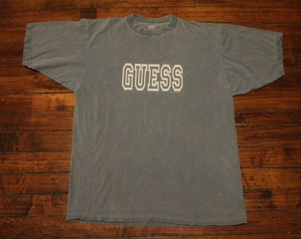 vintage guess shirt 1992 vintage graphic tee tshirt designer shirt retro XL