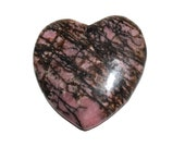 Rhodonite Heart Pendant Bead (K3)