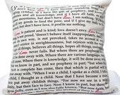 Love is... 1 Corinthians 13 Pillow Cover