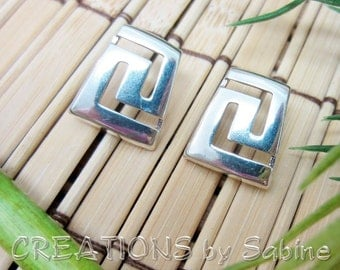 Sterling Silver Earrings 925 Jewelry Indian Native American Inspired Design Symbol Southwestern Country Simple Vintage FREE SHIPPING (475)