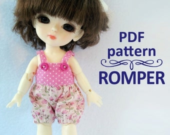 PDF pattern Romper for Lati yellow / PukiFee bjd