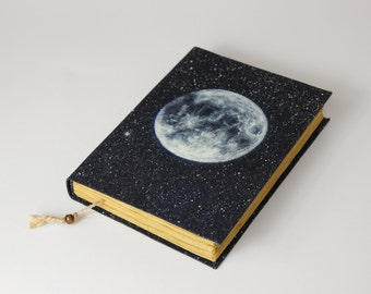 FULL MOON - journal, travel journal, book journal, antique diary, notebook, old paper