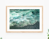 Instant Download Ocean Waves Printable Wall Art Blue Sea Turquoise Photo Photography Wall Decor Modern Wall Art Printable Poster