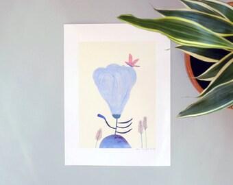 Illustration, Affiche, Impression sur papier, Grande Fleur