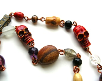 Bohemian Witch Doctor Necklace - Voodoo Necklace - Handmade Necklace - Handmade Jewelry - Boho - Bohochic
