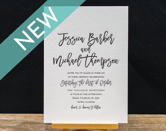 Liberty Letterpress Invitation Suite - DEPOSIT