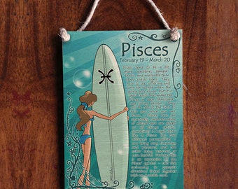 Pisces Surf Zodiac Sign - Astrology Signs