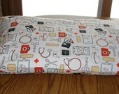 Flannel pillowcase with medical assistant, nurse, doctor, medical designs