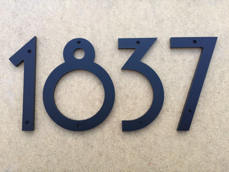 5 art deco house numbers letters. Black Bedroom Furniture Sets. Home Design Ideas