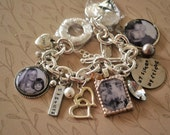 Sisters Charm Bracelet, Sisters, Siblings, Twins, Family Photo Charms, Chain Link Bracelet, Photo Gift, Photo Jewelry, Personalized Gift