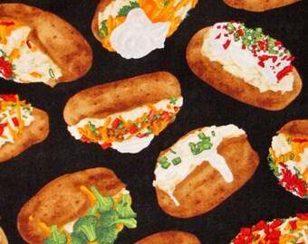 Fat Quarter Jacket Potatoes Potato Food Vegetables 100% Cotton Quilting Fabric
