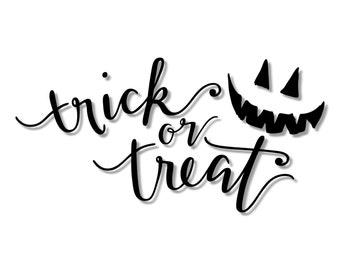 Trick or Treat Jack-o-lantern Halloween Stencil