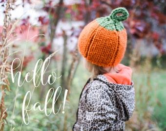 Pumpkin Beanie // Baby Beanie // Newborn // Toddler // Child // Halloween Knits // Fall Knits // Knit Beanie // Pumpkin Hat // Knit Pumpkin