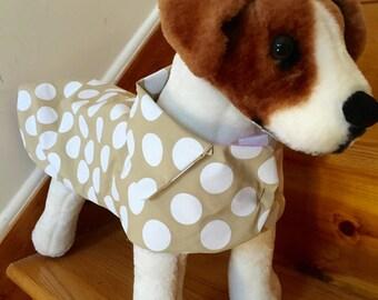 Polka dot raincoat by FiercePetFashion
