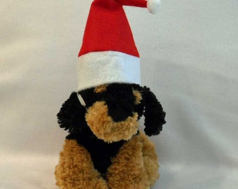 Christmas Pet Santa Hat Small Photo Prop Santa Hat  Santa Hat for Small Dogs and Cats