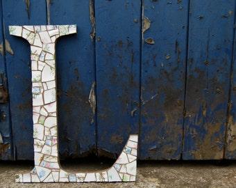 Large mosaic letter L