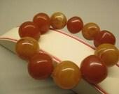 Amber Fashion Elegant Bracelet Fine 68.38 Gr Round 22.0 mm Caramel Color Handmade #148