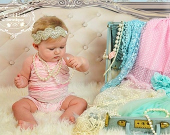 5 DOLLAR SALE-Bling Headband, Rhinestone Halo- Crown Headband- Rhinestone Headband  -Baby headband- Newborn headband-Flower girl-Christening