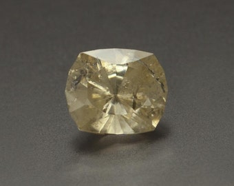 2.10ct- 6 x 7mm Rare Faceted Cushion Cut Powellite Loose Gemston from India, Custom Cut
