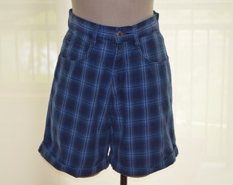 Women's Blue Jean Shorts, Size 9, Size 10, High Waisted Shorts, Memphis Vintage Shorts, Ladies' High Waist Jean Shorts, BOHO, Hipster