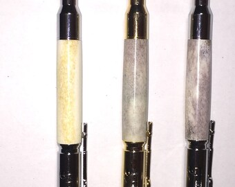 Lock & load BOLT ACTION Pen, Hand Crafted,deer antler, Great for Hunter or Gun Enthusiast. Gift for Dad, Grandpa, Son, Mom!