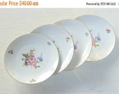 On Sale Vintage Kaiser Bavaria Dessert Plates for Weddings Set of 4 Replacement China Bridal Luncheons Tea Party Hostess Gift Bridesmaid Gif