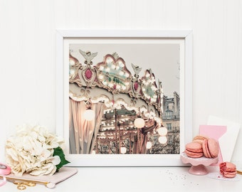 Paris Carousel photography print - Paris nursery decor