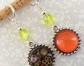 Flower Power & Pow! Orange, Daisy Dew Drops* Set of 2 Stitch Markers, Non-Snag, Fits up to US 10 (6.00 mm) knitting needles, FPOD3-2