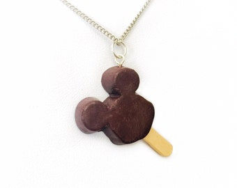Chocolate Disney Micky Mouse Icecream Charm Necklace