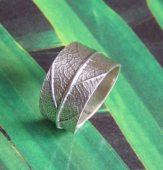 Leaf Ring Sterling Silver - Silver Leaf Ring