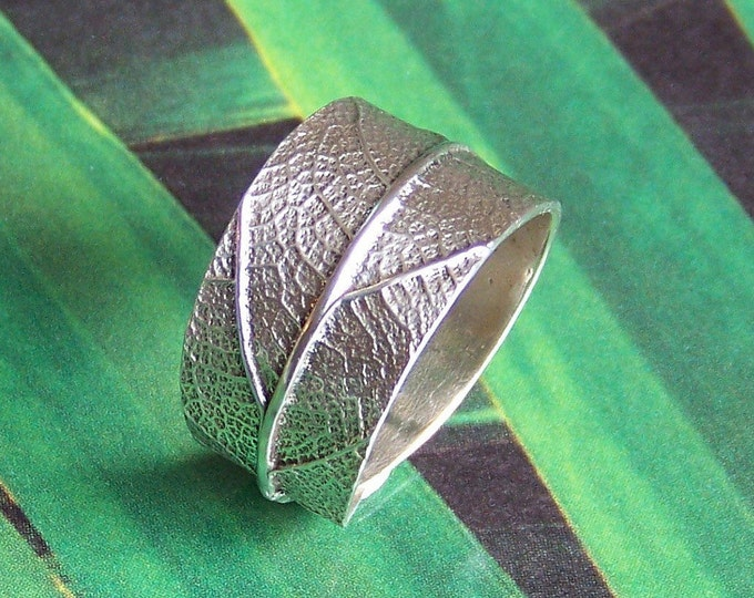 Leaf Ring Sterling Silver - Silver Leaf Ring - Handmade