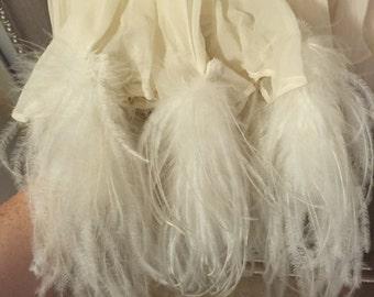Vintage White Feather Dress