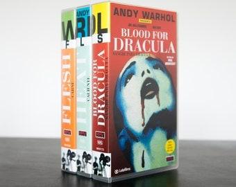 3 ANDY WARHOL VHS - Flesh + Heat + Blood for Dracula