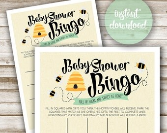 Mommy to Bee: Baby Shower Bingo Card