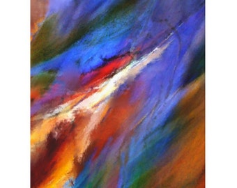 Colorful Abstract Art Print Titled: Wind in a Storm