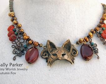 Autumn Fire Fox Necklace