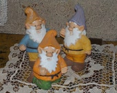 Fun Three Little Gnomes for Your Garden or Home /  New  Listing NOT INCULDED In Sale