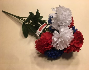 Patriotic carnation bouquet  (R10)