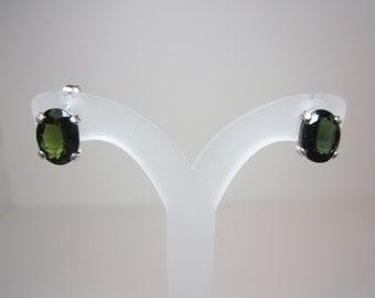Untreated Brazilian Green Tourmaline Earrings