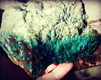 Raw chrysocolla- hand collected