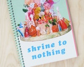 Shrine to Nothing- Spiral Notebook 60 unlined pages- pink, blue and cream