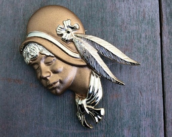 Roaring Twenties Brooch/Retro/Vintage/High Fashion