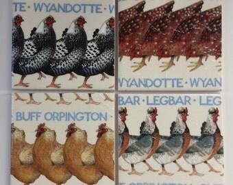 Coasters in Emma Bridgewater Hens Chickens