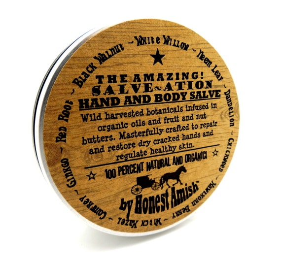 ALL Natural Hand and Body Salve - Dry - Cracked - Repair- Organic - Herbal Remedy - Honest Amish