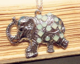 Silver Elephant Pendant Necklace