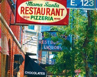 Cleveland coaster collection: Little Italy street scene (single stone tile coaster)